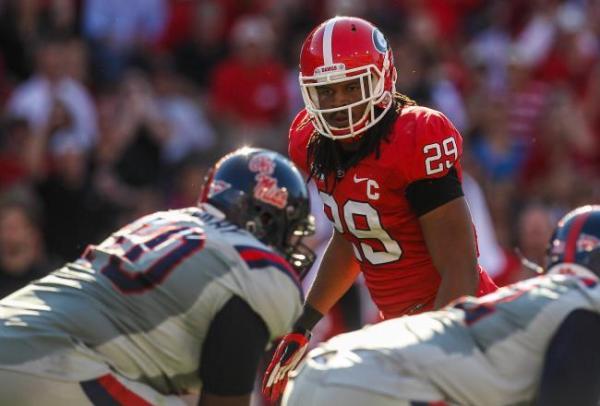 University of Georgia linebacker Jarvis Jones (Photo by Bleacher Report)