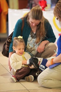 bekah-and-dog-at-radiothon-