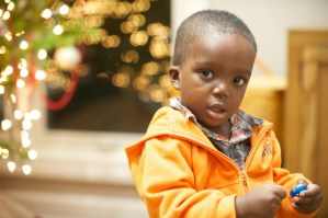 Haitian toddler had angels in Akron this holiday season