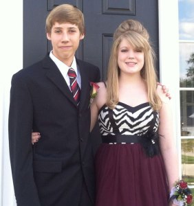 Maddie Meszaros and her date for homecoming