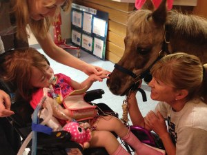 Petie the Pony makes a day in the hospital much brighter for our patients and staff