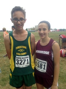 Cross country teams Go4theGoal for childhood cancer