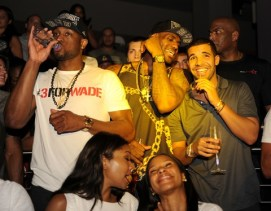 LeBron James, Dwyane Wade, & The Miami Heat celebrate NBA Championship at STORY Night Club