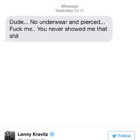 Lenny Kravitz Gets Some Leakage