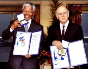 Mandela and F.W. de Klerk