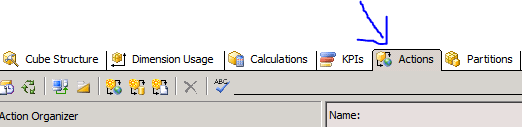 ssas url action analysis services sql server web page