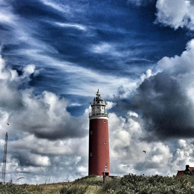 Wow The famous lighthouse in Texel With the perfect clouds!hellip