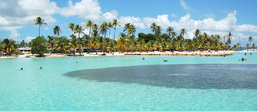 Plage-sainte-anne-lagon-turquoise-barriere-corail-voyage-guadeloupe-insolite-vue-mer