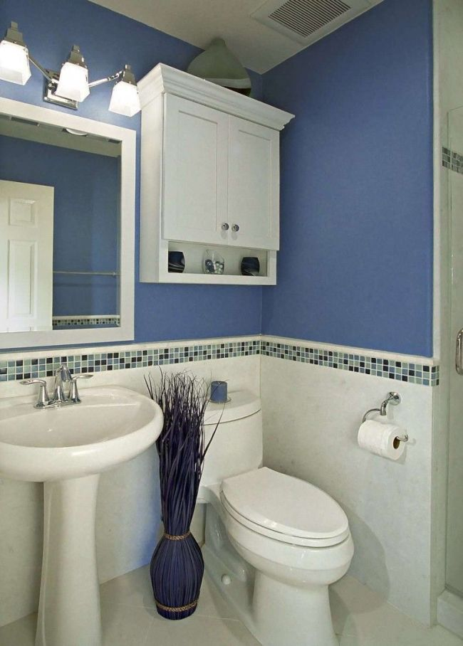 Soluciones de almacenaje para ba os peque os for Powder blue bathroom ideas
