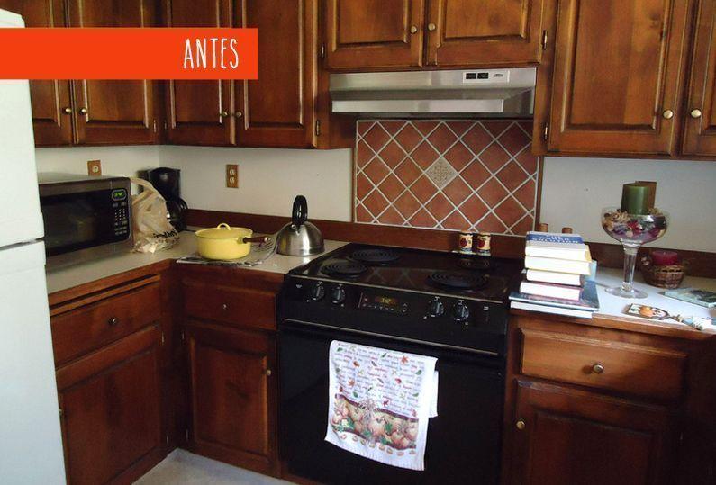 3 reformas de cocinas antes y despu s - Pintar muebles de cocina antes y despues ...