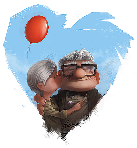 Carl and his big big love 55 Captivating Examples of Illustration  Art