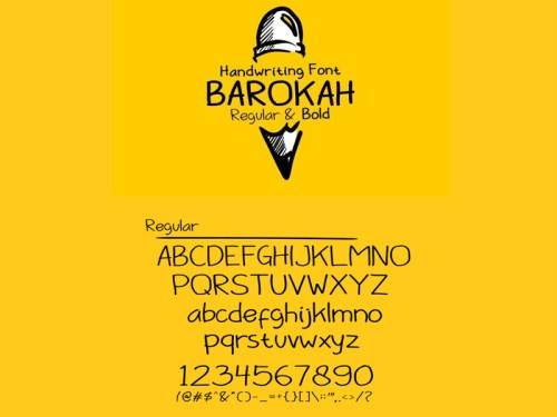barokah font by ahmed 50 Free Fonts Youll be Tempted to Download