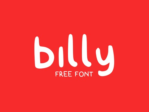 billy free typeface by claire follow 50 Free Fonts Youll be Tempted to Download