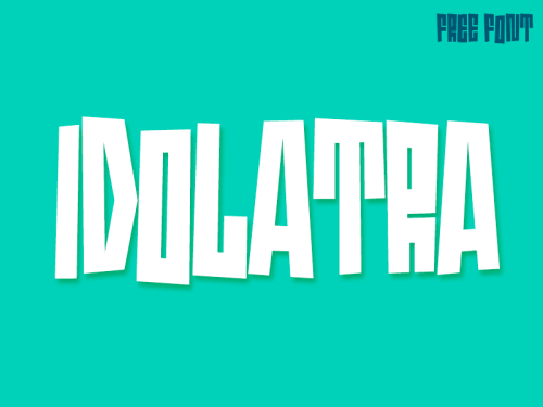 idolatra font by felipe 50 Free Fonts Youll be Tempted to Download
