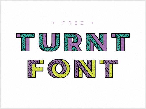 turnt font by anthony gehin 50 Free Fonts Youll be Tempted to Download