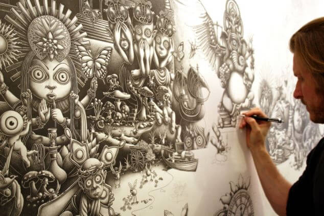 Highly detailed picture takes ten months to draw, Brooklyn, New York, America - Aug 2011