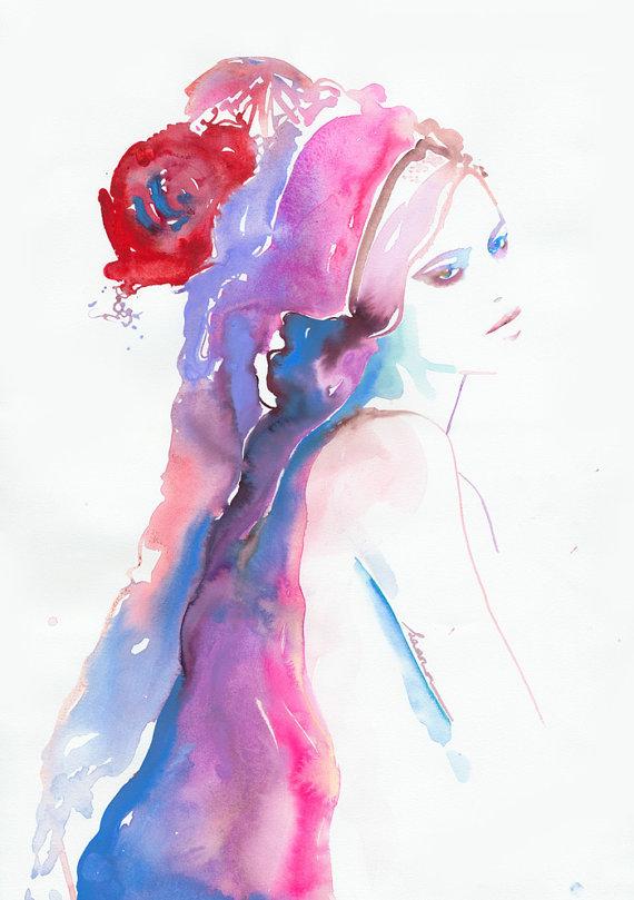 coloful watercolor