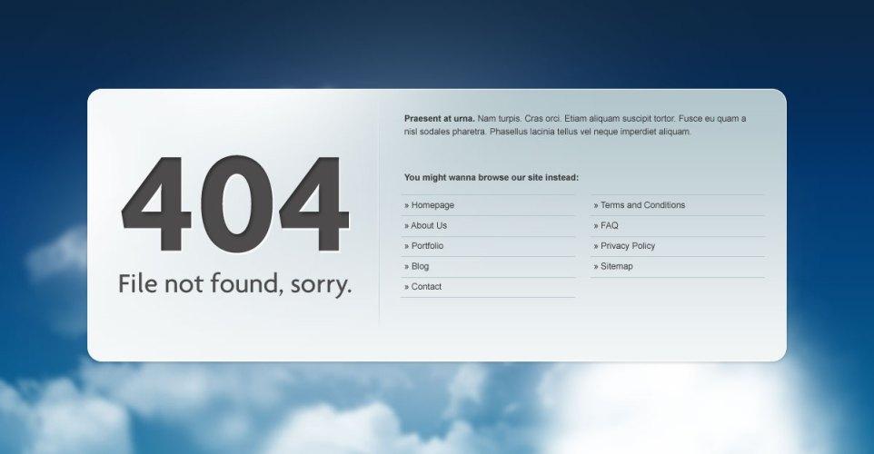 404 templates