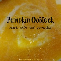 Pumpkin Oobleck Made with Real Pumpkin