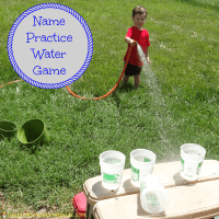 Name Practice Water Game