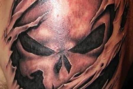 skull tattoos ideas for men on shoulder