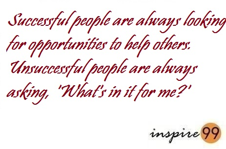 whats in it for me, why should i help others, what do i get by helping others, why should we help others, why do you like to help others