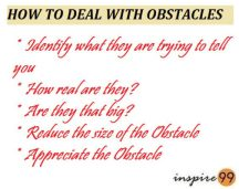 HOW TO DEAL WITH OBSTACLES