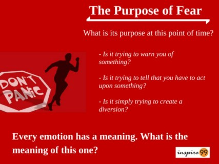 purpose of fear, why fear,