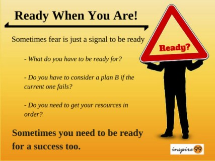 prepare for fear, how to be ready for fear