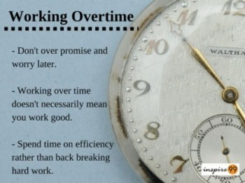 avoid working overtime, time management and overtime, handle overtime work
