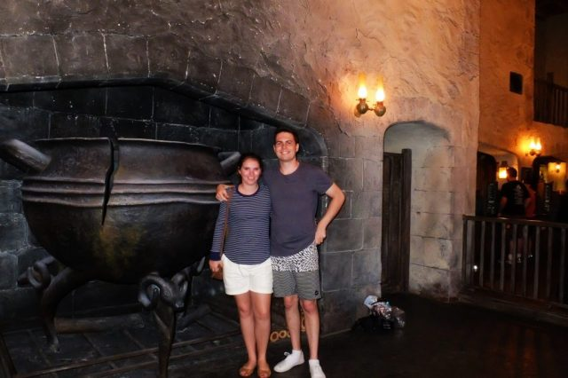 The Leaky Cauldron Pub (it is very chilly in there after the Orlando sunshine)