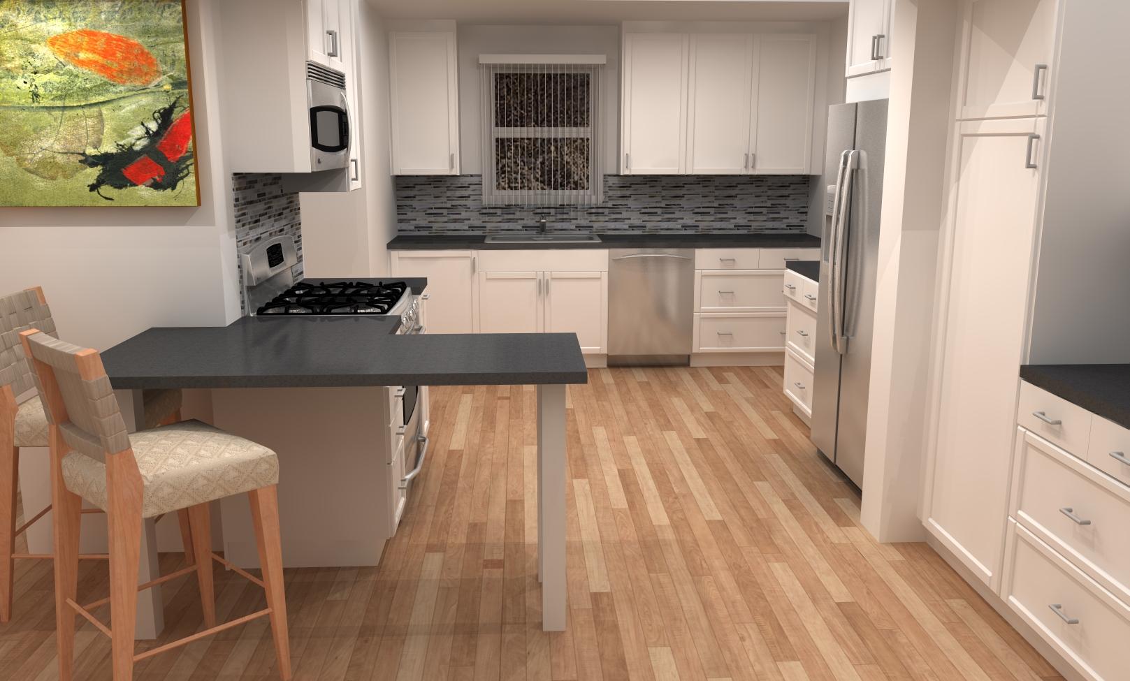 small kitchen remodel with ikea cabinets ikea kitchen remodel Finished ADEL kitchen white shaker IKEA cabinets