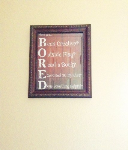 "DIY ""Bored"" Sign"
