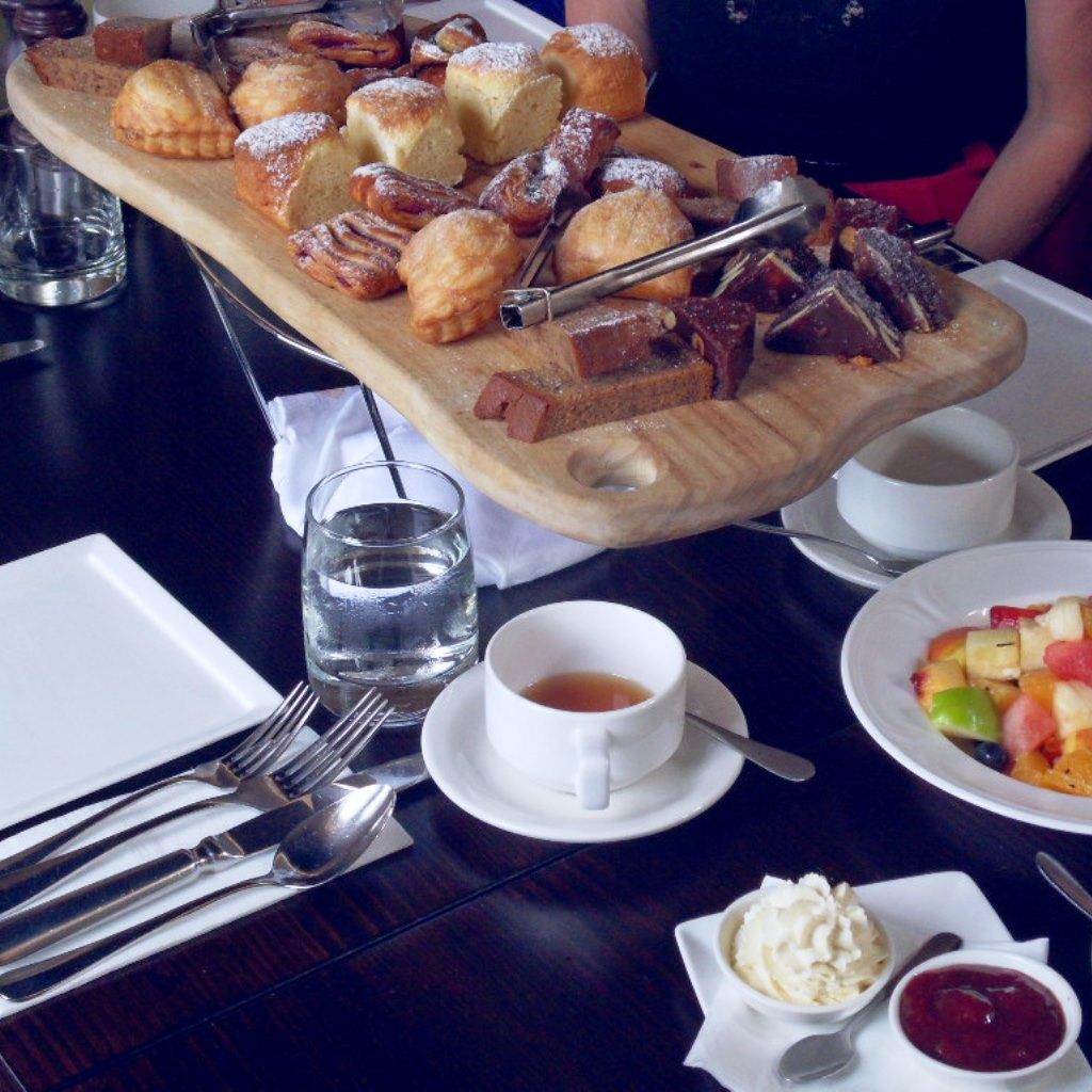 Sweet breakfast spread at  Hyde Park Barracks Cafe