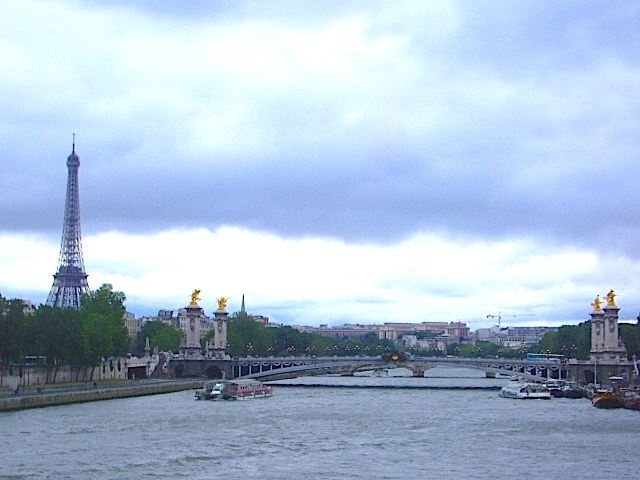 The Eiffel Tower and the River Seine, Paris