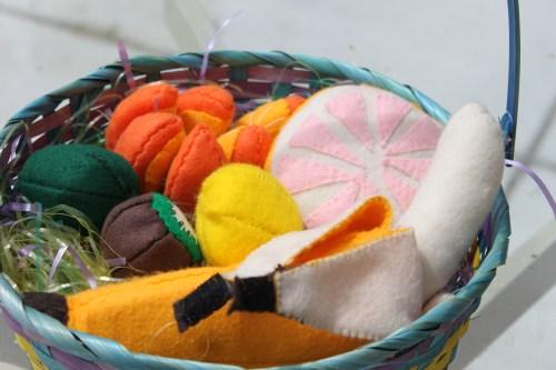 Felt Food Fruit Basket