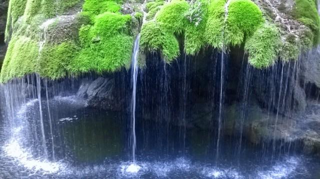 Close-up of Bigar Waterfall