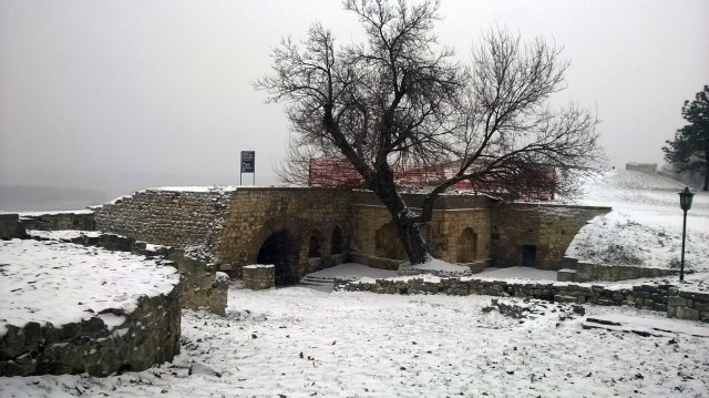 Ruins inside the fortress