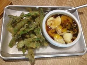 asparagus with egg and tamari