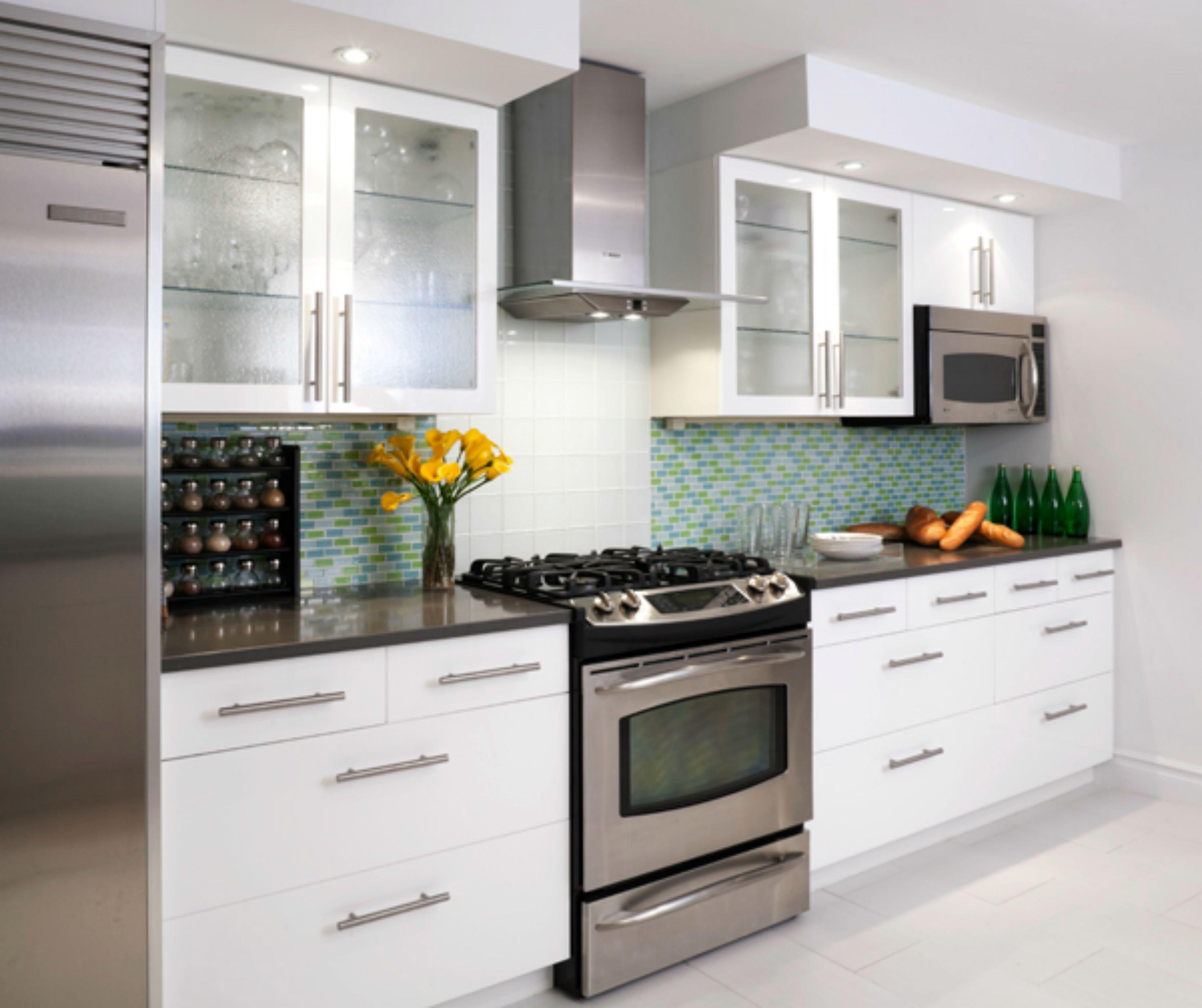 Inspiring kitchen remodel details green blue tile backsplash