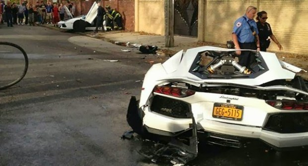 Crash Lamborghini NYC