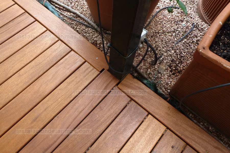 Fotos de tarima de grapia para suelos de exterior muy for Suelos resistentes