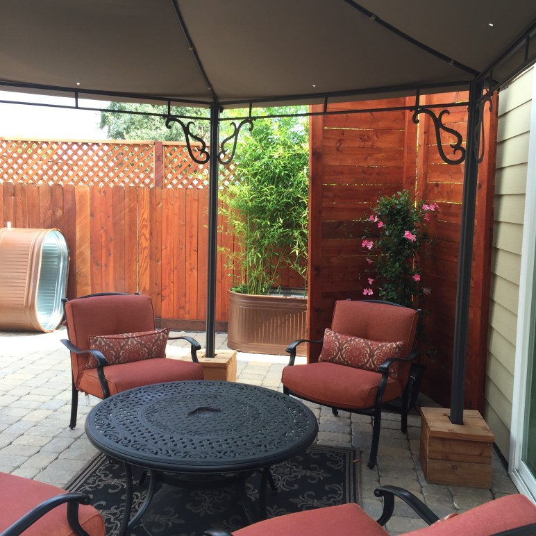 Deck bamboo screening - Cotati