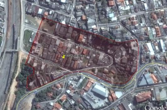 Parque Ciras - Delimitação do Parcelamento