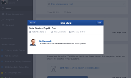 Edmodo Releases Quizzes for iPad