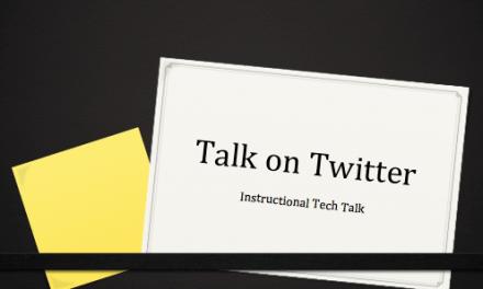 Talk on Twitter: Apple TV or Interactive Whiteboard?