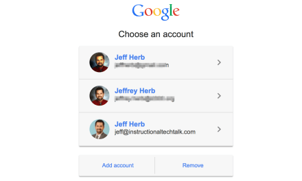 Remove Google Accounts from the Sign-in List