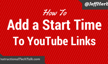 Add a Start Time to YouTube Links
