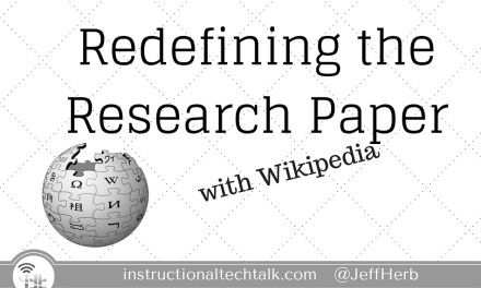 Redefining the Research Paper using Wikipedia – yes, Wikipedia
