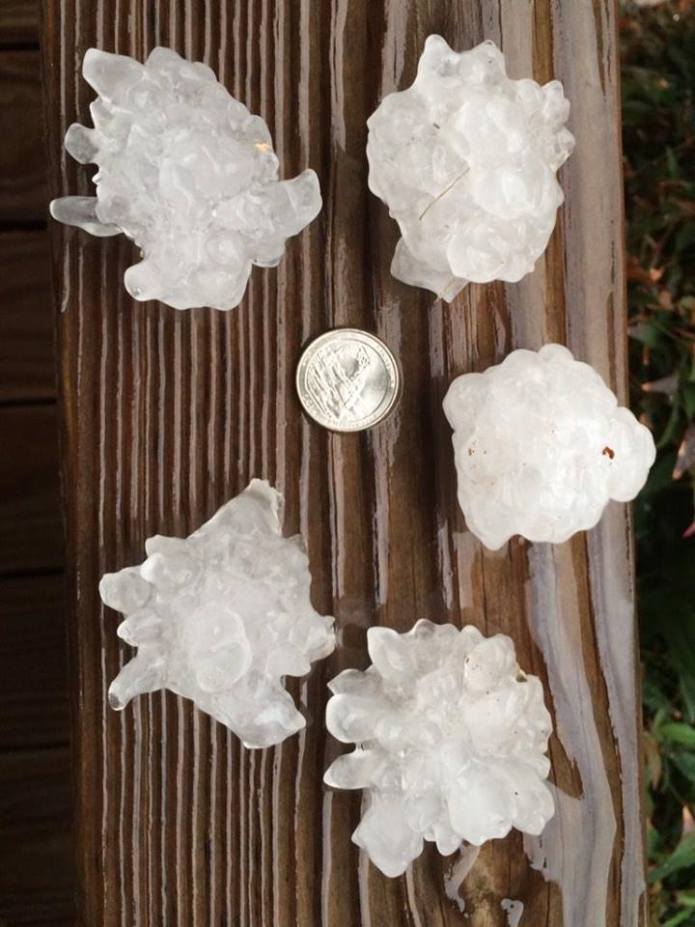 InsuranceBusters.net Oklahoma City Hail From Norman Weather Office